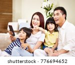 asian family with two children... | Shutterstock . vector #776694652
