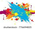 abstract vector splatter color... | Shutterstock .eps vector #776694835