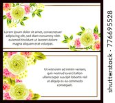 invitation with floral... | Shutterstock .eps vector #776695528