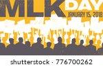 banner for martin luther king... | Shutterstock .eps vector #776700262