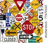 montage of numerous traffic... | Shutterstock . vector #77670103