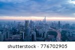 aerial view of shanghai city in ... | Shutterstock . vector #776702905