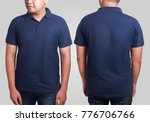 blank polo shirt mock up  front ... | Shutterstock . vector #776706766