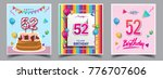 vector sets of 52 years... | Shutterstock .eps vector #776707606
