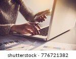businessman working on smart... | Shutterstock . vector #776721382