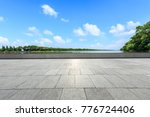 empty square floor and nature... | Shutterstock . vector #776724406