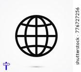 earth icon vector  stock vector ... | Shutterstock .eps vector #776727256