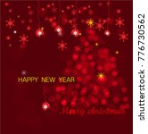 merry christmas and happy new... | Shutterstock .eps vector #776730562