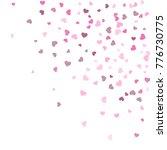 heart confetti beautifully... | Shutterstock .eps vector #776730775