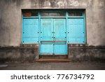 old doorway in la paz  uruguay. ... | Shutterstock . vector #776734792