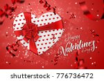 happy valentine's day festive... | Shutterstock . vector #776736472