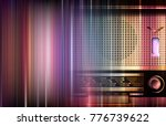 abstract blue music background... | Shutterstock .eps vector #776739622
