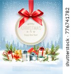 merry christmas holiday... | Shutterstock .eps vector #776741782