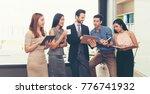 teamwork concept. collaboration ... | Shutterstock . vector #776741932
