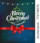 merry christmas greeting card... | Shutterstock .eps vector #776748076