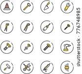 line vector icon set   road... | Shutterstock .eps vector #776748985