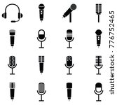 microphone icon set | Shutterstock .eps vector #776752465