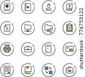 line vector icon set   passport ... | Shutterstock .eps vector #776753122