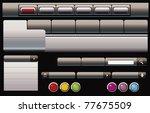 set for web design | Shutterstock .eps vector #77675509