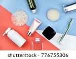 cosmetic bottle containers with ... | Shutterstock . vector #776755306