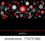 decorative winter card ... | Shutterstock .eps vector #776757382