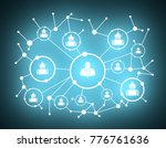 growth background with lines ... | Shutterstock . vector #776761636