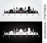 baghdad skyline and landmarks... | Shutterstock .eps vector #776774632