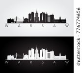 warsaw skyline and landmarks... | Shutterstock .eps vector #776774656