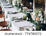 wedding table decorations ... | Shutterstock . vector #776780272