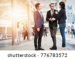 group of business team meeting... | Shutterstock . vector #776783572
