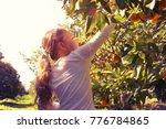 rural landscape image of a cute ... | Shutterstock . vector #776784865