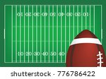 american football ball on... | Shutterstock .eps vector #776786422