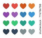 heart icons full in flat ui... | Shutterstock .eps vector #776786788
