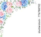 Blue Hydrangea  Orchid  Pink...