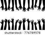 black hands silhouettes   Shutterstock .eps vector #776789578