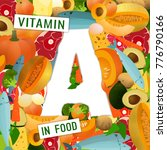 foods containing vitamin a... | Shutterstock .eps vector #776790166