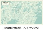 athens greece map in retro... | Shutterstock .eps vector #776792992