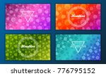 modern vector abstract brochure ... | Shutterstock .eps vector #776795152