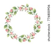 watercolor hand painted round... | Shutterstock . vector #776800906