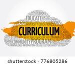 curriculum word cloud collage ... | Shutterstock .eps vector #776805286