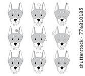 actions  cartoon cute doberman...   Shutterstock .eps vector #776810185