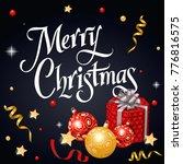 merry christmas festive... | Shutterstock .eps vector #776816575