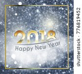 happy new year 2018 background...   Shutterstock .eps vector #776819452