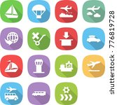 flat vector icon set   boat... | Shutterstock .eps vector #776819728