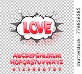 comic lettering font love 3d.... | Shutterstock .eps vector #776826385