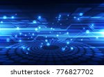 abstract vector blue technology ... | Shutterstock .eps vector #776827702