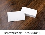 mockup of white business cards... | Shutterstock . vector #776833048