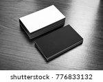 mockup of white and black... | Shutterstock . vector #776833132