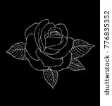 rose embroidery design .for... | Shutterstock .eps vector #776835352
