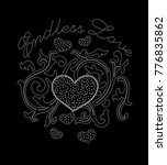 heart embroidery design .for... | Shutterstock .eps vector #776835862